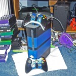 Custom blue and black paint on my Xbox 360