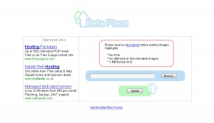 Early concept image of the home page for what would become Pixita.