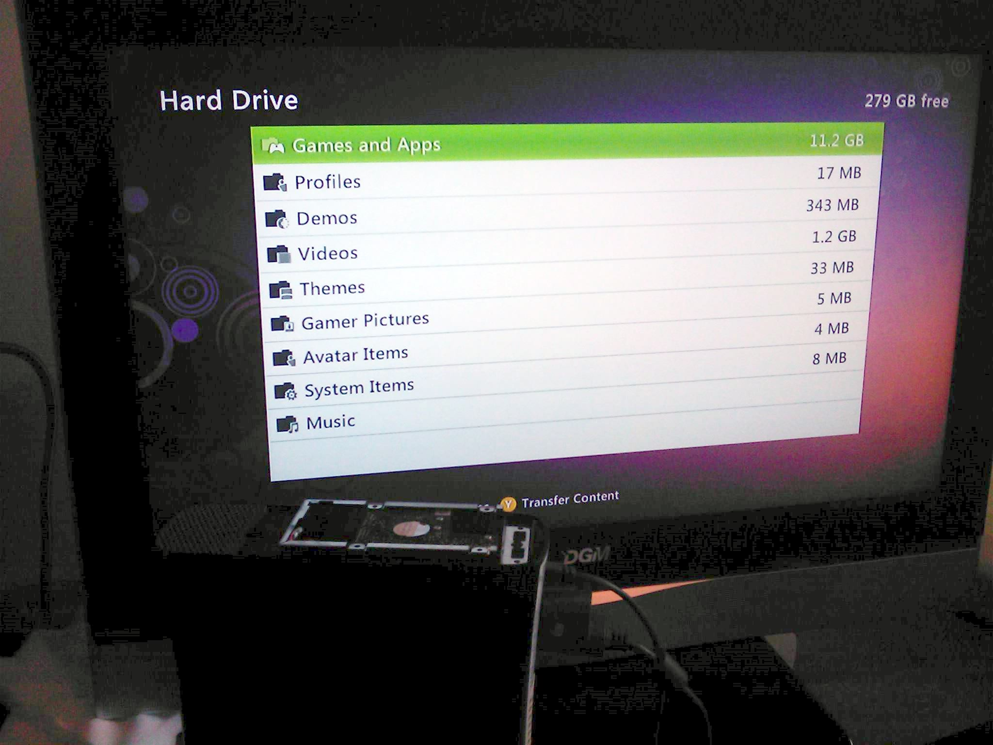 how to connect xbox 360 hard drive to pc