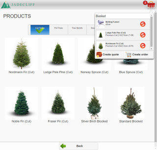 jadecliff sales app basket popup