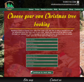 marldon christmas trees website 2014 choose your own tree booking page 1