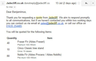jadecliff quote email staff