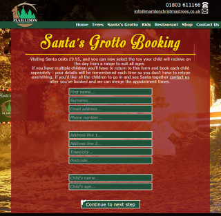 marldon christmas trees website 2014 santas grotto booking page 1